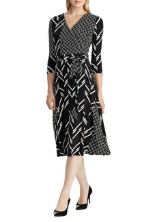 Lauren Ralph Lauren Multi-Print Jersey Dress