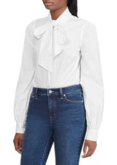 Lauren Ralph Lauren Necktie Cotton Broadcloth Shirt