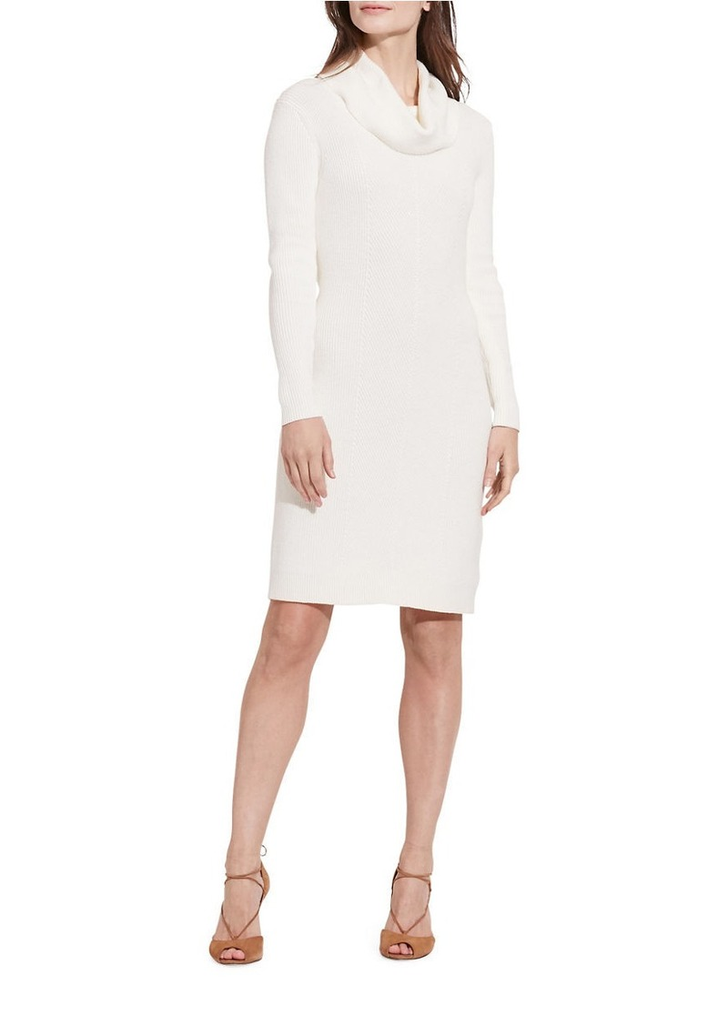 LAUREN RALPH LAUREN Normetta Cotton-Blend Sweater Dress