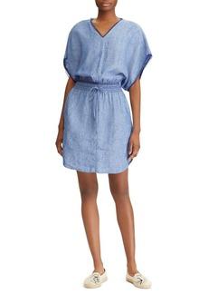Lauren Ralph Lauren Novelty-Trimmed Linen Dress