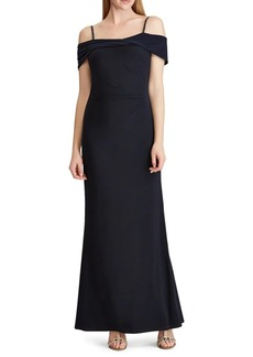 Lauren Ralph Lauren Off-The-Shoulder Beaded Gown