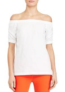 Lauren Ralph Lauren Off-the-Shoulder Cotton Poplin Top