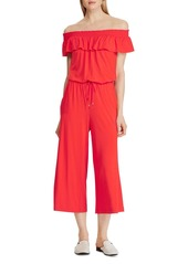 Lauren Ralph Lauren Off-the-Shoulder Cropped Jumpsuit