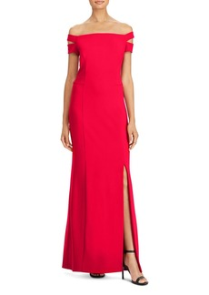 Lauren Ralph Lauren Off-the-Shoulder Gown