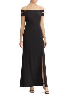 Lauren Ralph Lauren Off-the-Shoulder Jersey Gown