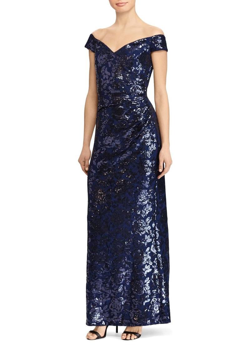 Ralph Lauren Lauren Ralph Lauren Off-the-Shoulder Sequin Gown | Dresses