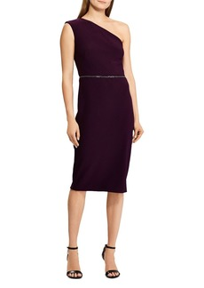 Lauren Ralph Lauren One-Shoulder Bead Accent Jersey Dress - 100% Exclusive