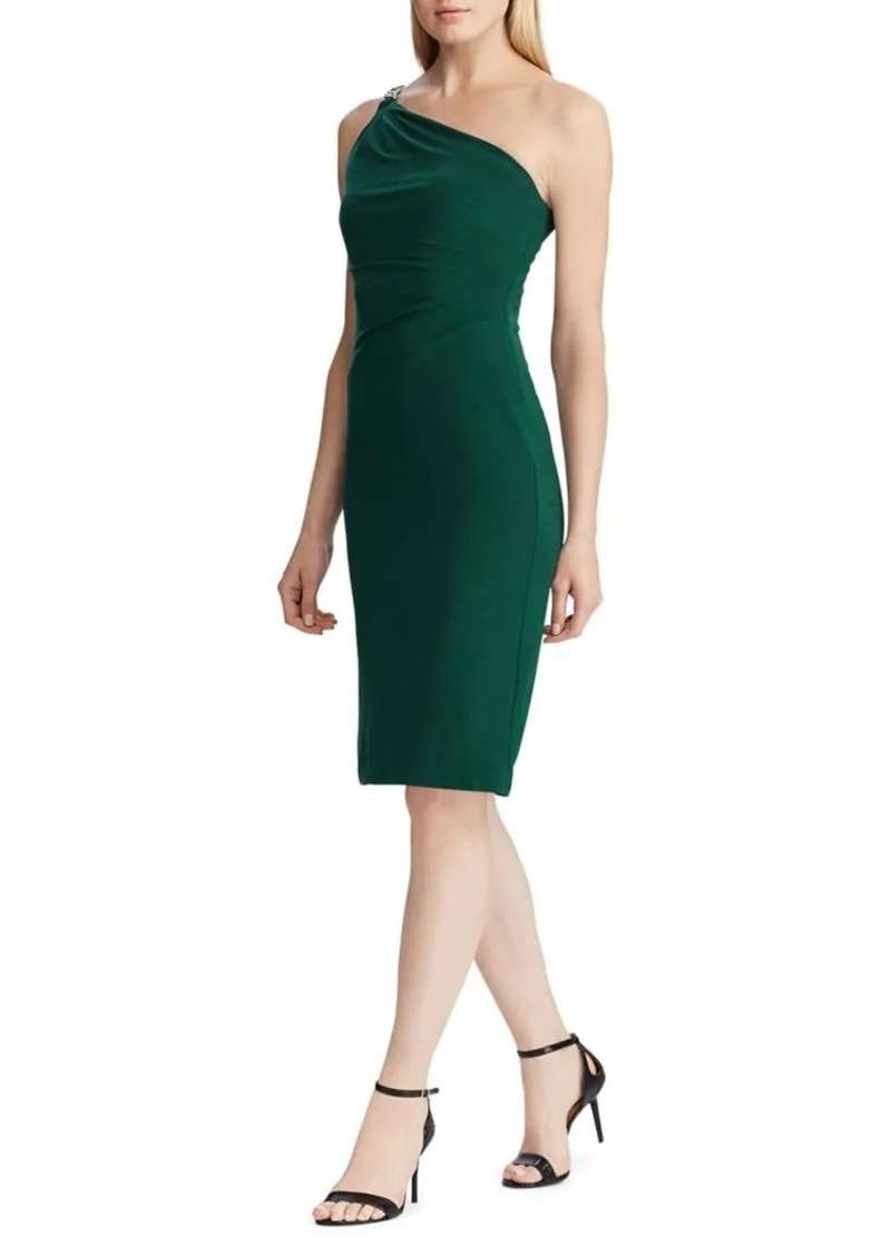Lauren Ralph Lauren One-Shoulder Cocktail Dress