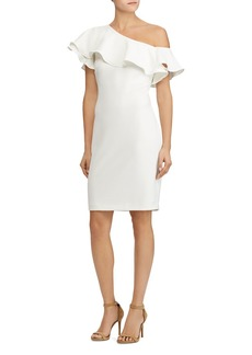 Lauren Ralph Lauren One-Shoulder Crepe Dress