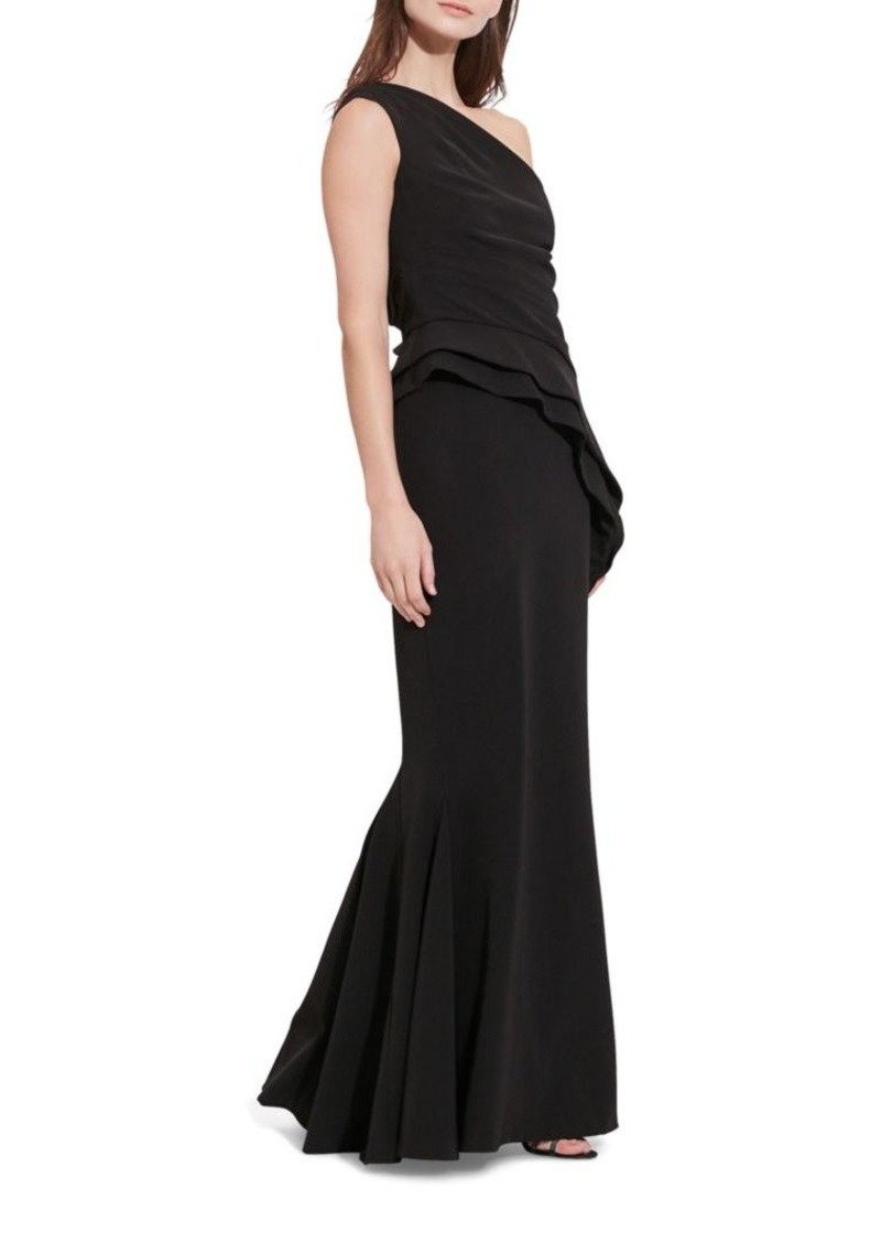 Lauren One Shoulder Evening Gown Ralph