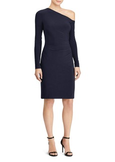 Lauren Ralph Lauren One-Shoulder Jersey Dress