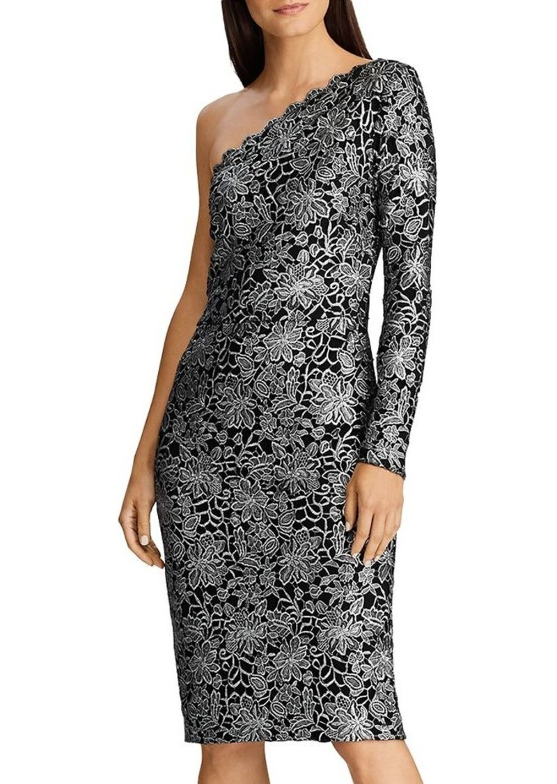 Lauren Ralph Lauren One-Shoulder Lace Dress