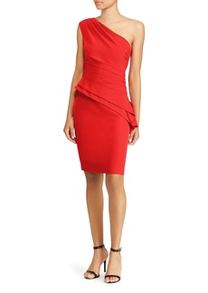 Lauren Ralph Lauren One-Shoulder Peplum Dress