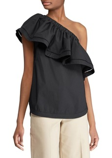 Lauren Ralph Lauren One-Shoulder Ruflle Blouse