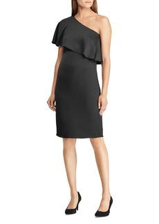 Lauren Ralph Lauren One-Shoulder Satin Dress