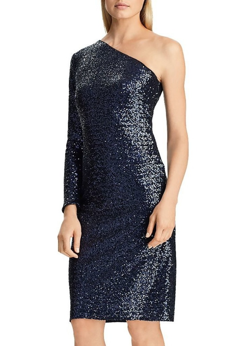 Lauren Ralph Lauren One-Shoulder Sequin Dress - 100% Exclusive