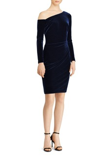 Lauren Ralph Lauren One Shoulder Velvet Dress - 100% Exclusive