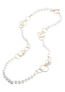 Lauren Ralph Lauren Orbital Link Necklace, 36""