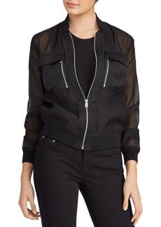 Lauren Ralph Lauren Organza Bomber Jacket