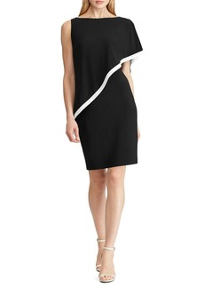 Lauren Ralph Lauren Overlay Jersey Sheath Dress