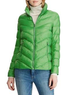 Lauren Ralph Lauren Packable Chevron Quilted Jacket