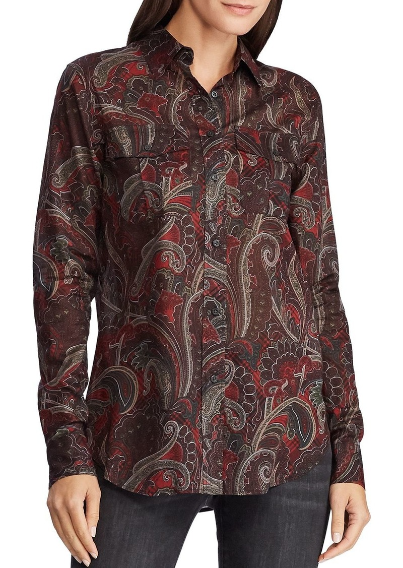 Lauren Ralph Lauren Paisley Print Button-Down Shirt