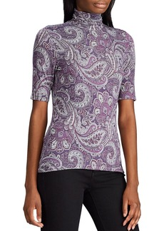 Lauren Ralph Lauren Paisley-Print Turtleneck Top