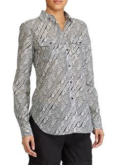 Lauren Ralph Lauren Paisley Silk-Blend Shirt