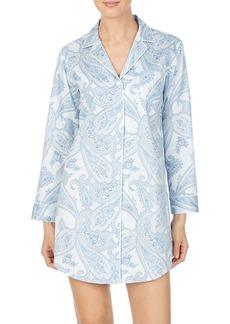 Lauren Ralph Lauren Paisley Woven Cotton Sleepshirt
