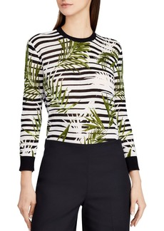 Lauren Ralph Lauren Palm & Stripe Top