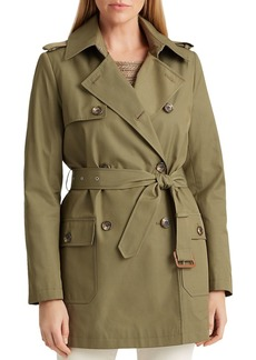 Lauren Ralph Lauren Patch Pocket Short Trench Coat
