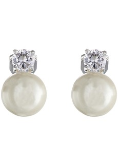 Ralph Lauren Pearl w/ Cubic Zirconia Clip Earrings