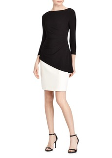 Lauren Ralph Lauren Peplum Two-Tone Dress