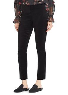 Lauren Ralph Lauren Petite Mid-Rise Stretch Velvet Skinny Pants