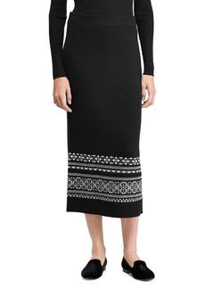Lauren Ralph Lauren Petite Petite Fair Isle Mid-Rise Maxi Skirt
