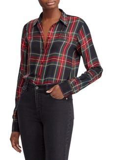 Lauren Ralph Lauren Petite Petite Tartan Crest Twill Button-Down Shirt