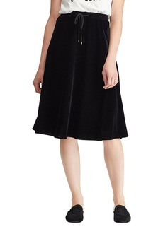 Lauren Ralph Lauren Petite Velvet A-Line Skirt
