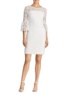 Lauren Ralph Lauren Petites Bell-Sleeve Lace Sheath Dress
