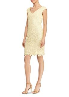 Lauren Ralph Lauren Petites Floral Lace Dress