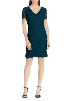 Lauren Ralph Lauren Petites Scalloped Lace Dress