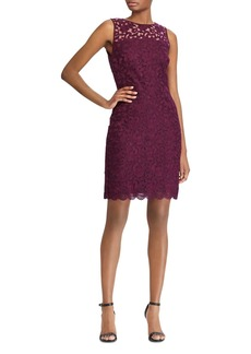 Lauren Ralph Lauren Sleeveless Floral-Lace Dress