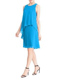Lauren Ralph Lauren Petites Tiered Overlay Dress