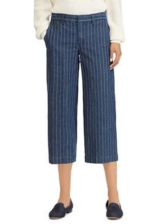 Lauren Ralph Lauren Pinstripe Cropped Wide-Leg Pants