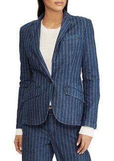 Lauren Ralph Lauren Pinstripe Denim Jacket