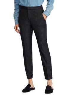 Lauren Ralph Lauren Pinstripe Mid-Rise Pants