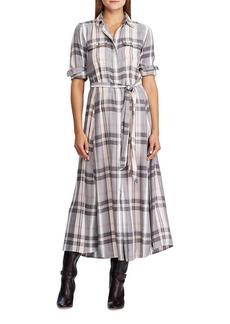 Lauren Ralph Lauren Plaid Belted Shirt Dress