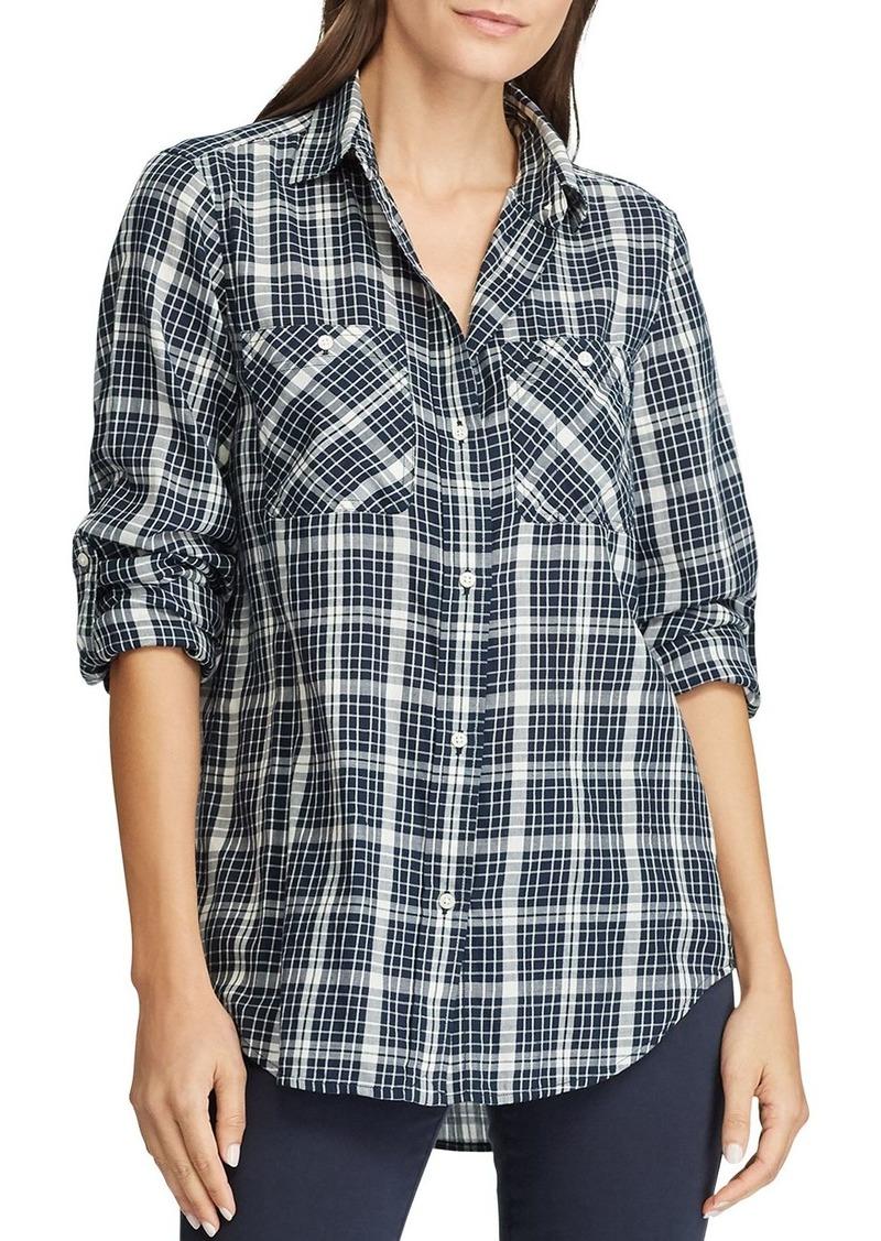 Lauren Ralph Lauren Plaid Button-Down Cotton Shirt