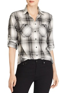 Lauren Ralph Lauren Plaid Button-Down Top
