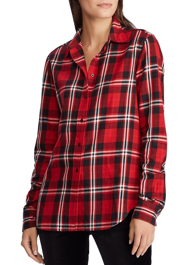 Lauren Ralph Lauren Plaid Button-Front Shirt
