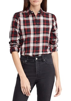 Lauren Ralph Lauren Plaid Cotton Button-Down Shirt